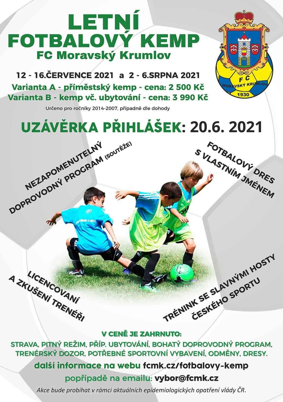 FCMK pořádá letní fotbalový kemp 2021 ve dvou termínech.