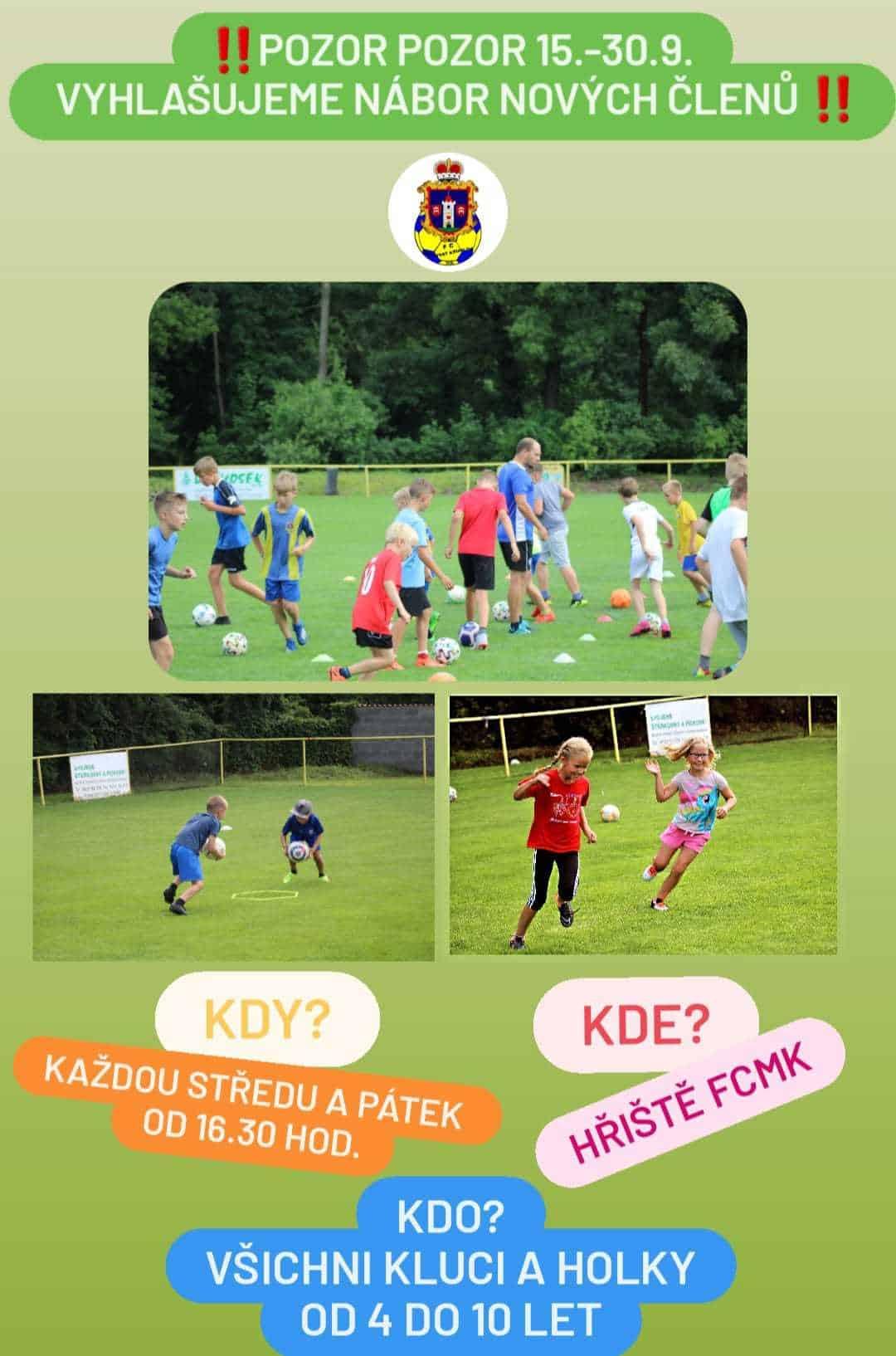 Read more about the article Pozor pozor FC Moravský Krumlov vyhlašuje nábor nových členů!!!!!